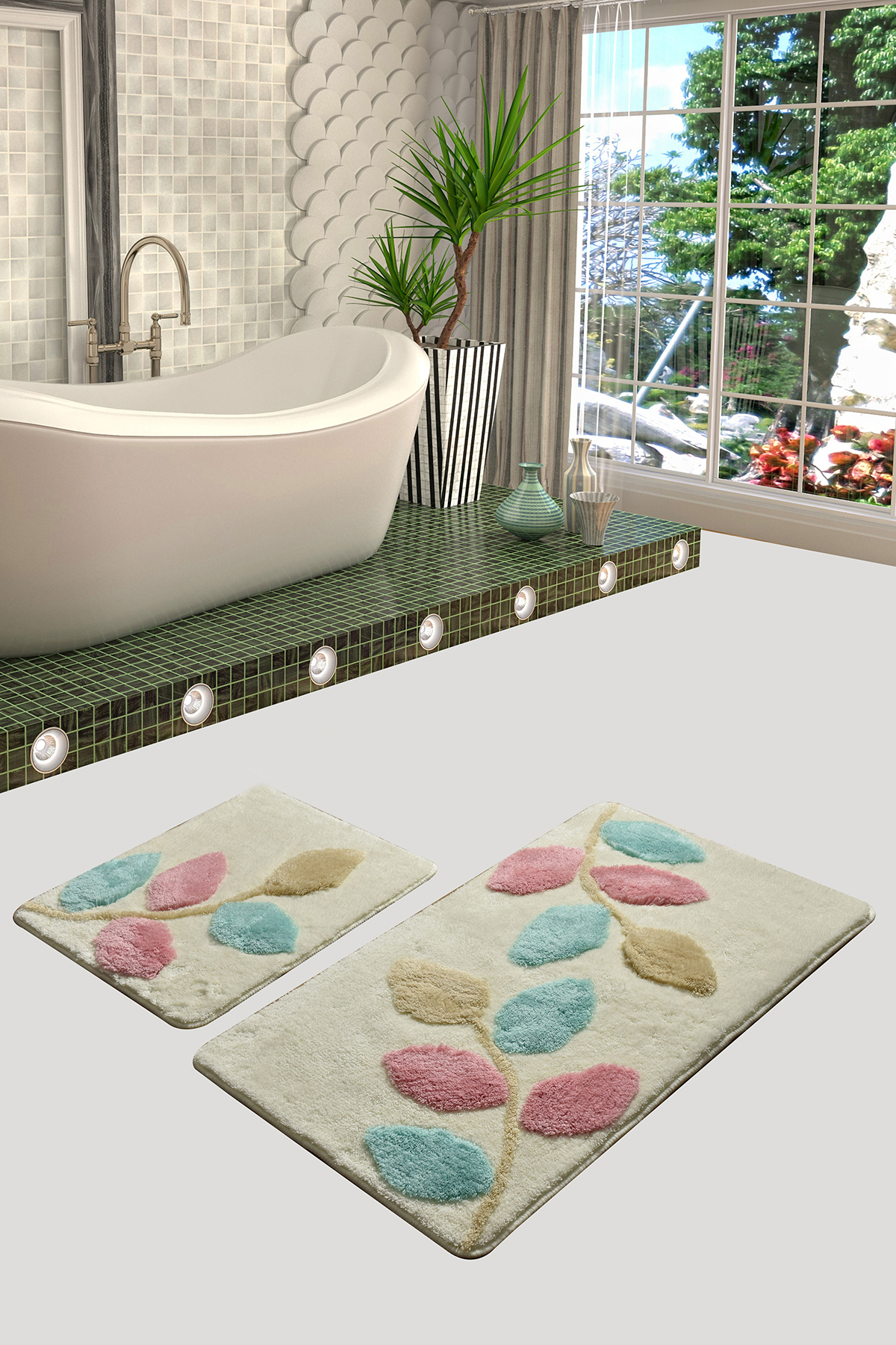 Коврик для ванной DO&CO (60Х100 см/50x60 см) INNOVIA