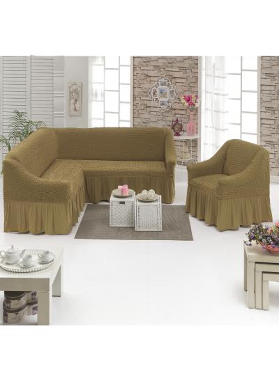 Чехол д/мягкой мебели Угловой 2-х пр.(3+1) кресла 1шт  JUANNA
