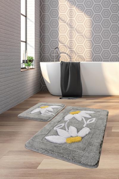 Коврик для ванной DO&CO (60Х100 см/50x60 см) DAISY