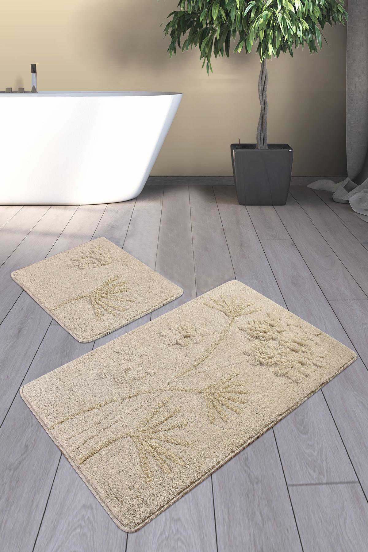 Коврик для ванной DO&CO (60Х100 см/50x60 см) ORKIDE