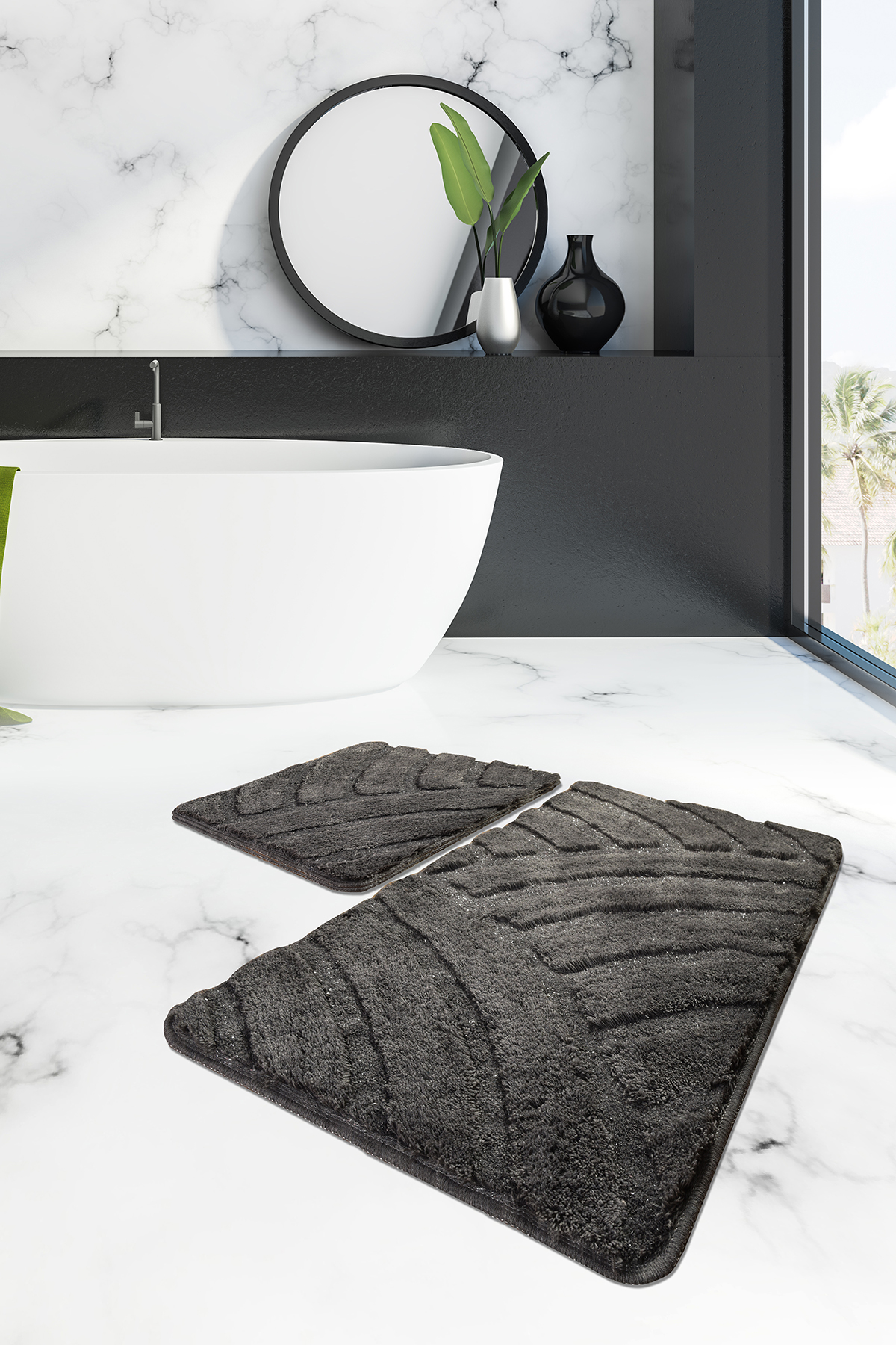 Коврик для ванной DO&CO (60Х100 см/50x60 см) ALYA