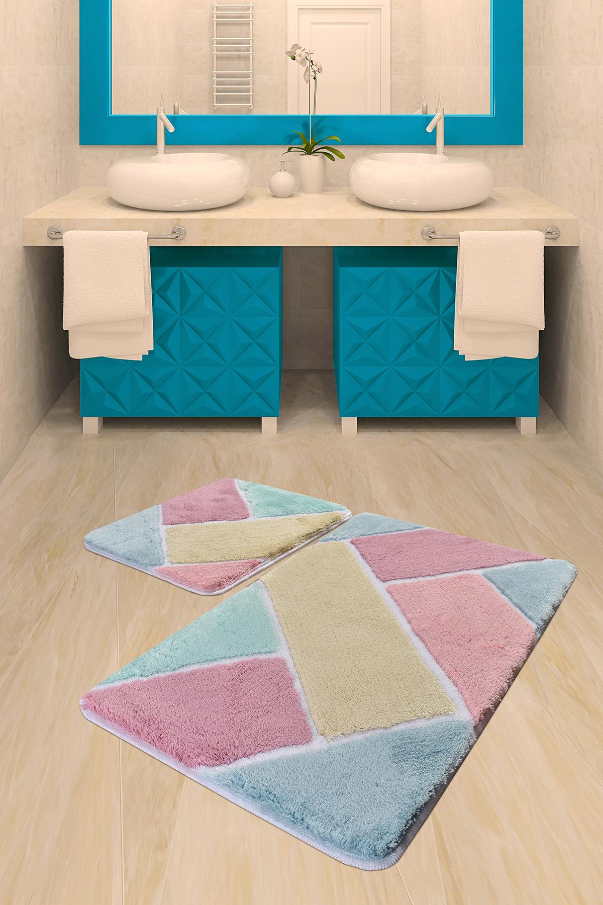 Коврик для ванной DO&CO (60Х100 см/50x60 см) COLORE