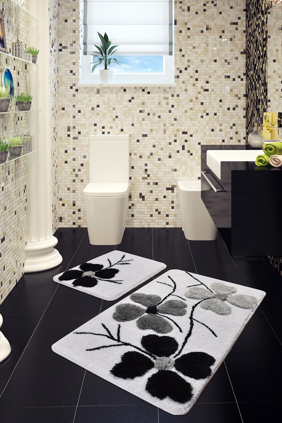 Коврик для ванной DO&CO (60Х100 см/50x60 см) KIRCICEGI