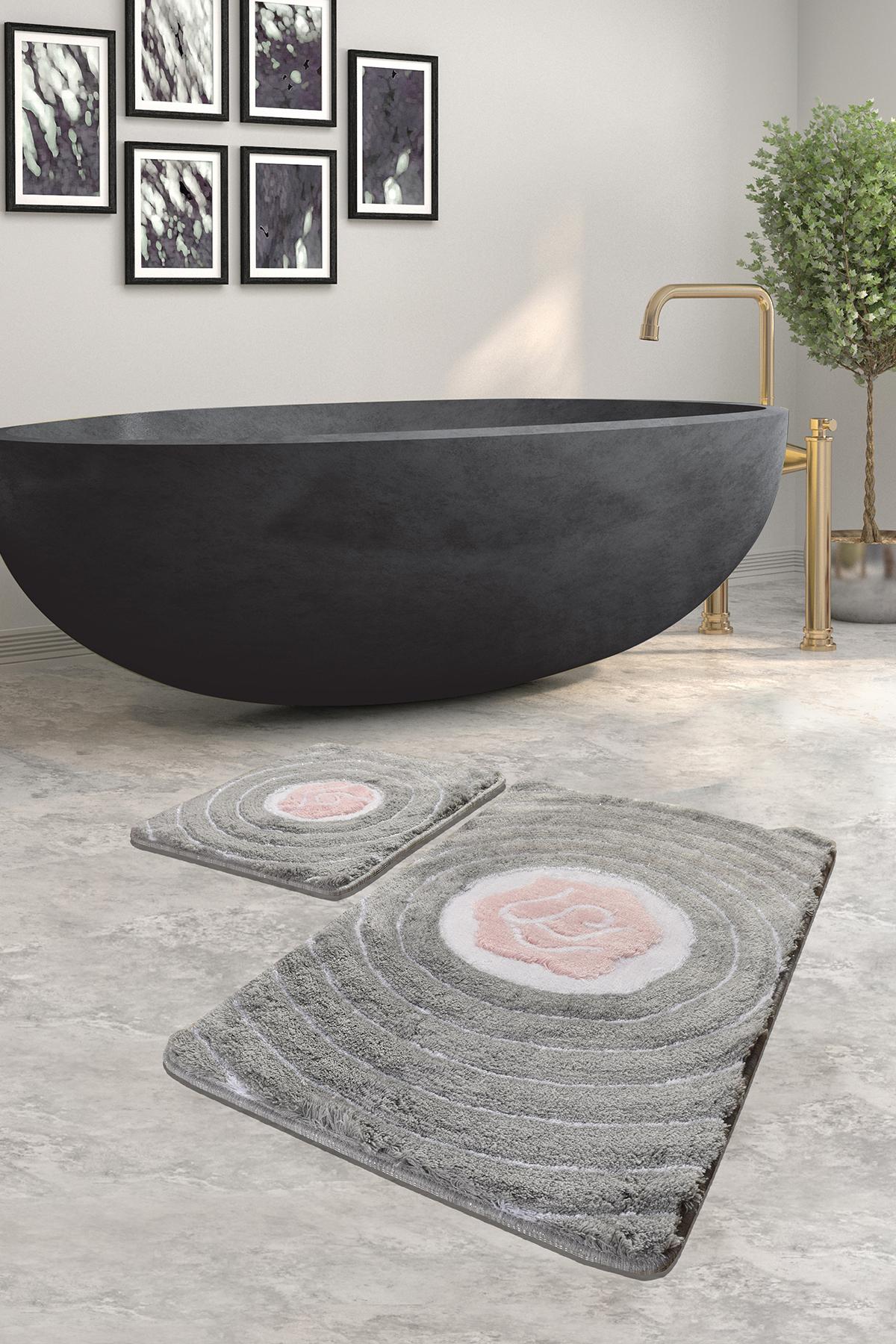 Коврик для ванной DO&CO (60Х100 см/50x60 см) FLORIA